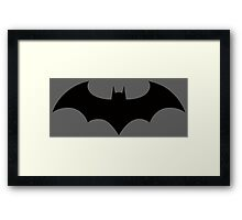 New 52 Dick Grayson Batman Symbol Framed Print