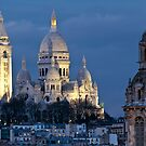 Sacre Coeur at dusk by randyharris