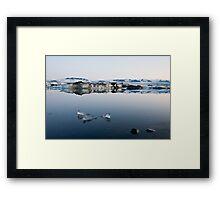Glacier Lagoon August 2009 #4 Framed Print