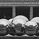 Silver Balls at Palais Royal in Black and White by randyharris