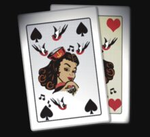 50s Queen of spades, home made poker deck! by patjila