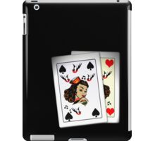 50s Queen of spades, home made poker deck! iPad Case/Skin