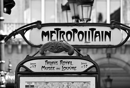 Black and White Paris Signs