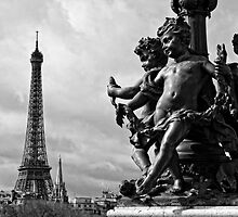 Pont Alexander III in Black and White by randyharris