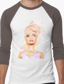 Barbie Men's Baseball ¾ T-Shirt