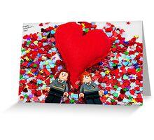 Lego Valentine Greeting Card