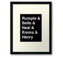 Rumple & Belle & Neal & Emma & Henry Framed Print