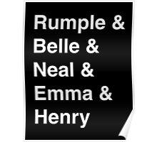Rumple & Belle & Neal & Emma & Henry Poster