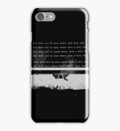 All work typed White iPhone Case/Skin