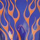 Street Rod Art: Flaming Refections by Karen K Smith