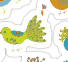 Posh birds Sticker