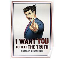 phoenix wright wants you Poster