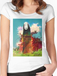 spirited away. no face Women's Fitted Scoop T-Shirt