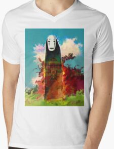 spirited away. no face Mens V-Neck T-Shirt