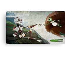La création de Zaphod - The creation of Zaphod Canvas Print