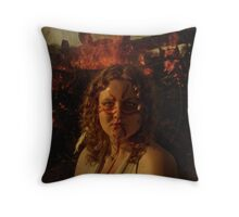 Fire Elemental  Throw Pillow