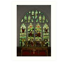 Window #1 St Peter's Church  Art Print