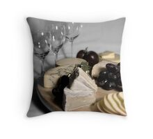 Cheeese board Throw Pillow