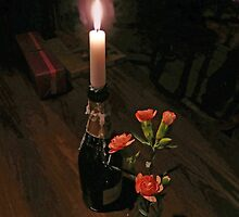 Candlelight at the Old ferry Inn  by Alex Hardie