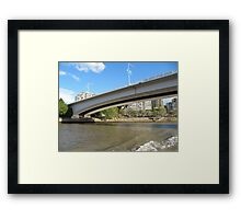 Two Way Vehicle Bridge over Brisbane River! Queensland. Aust. Framed Print