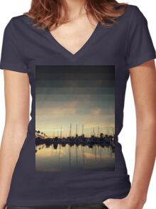 Fading Skies Women's Fitted V-Neck T-Shirt