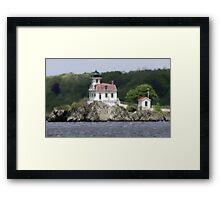 PONHAM ROCKS LIGHTHOUSE...EAST PROVIDENCE (RIVERSIDE), RI Framed Print