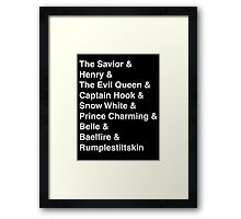 Once Upon A Time in FairyTale Land Framed Print