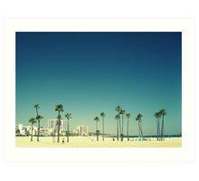 Summer Beach Blue Art Print