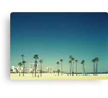 Summer Beach Blue Canvas Print