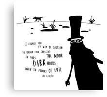 The Hound Of Baskervilles  Canvas Print