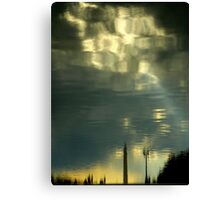 Some Clouds In My Water Canvas Print