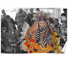 Young Dancer (Pow Wow Series) Poster