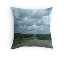 Driving Down The Highway Throw Pillow