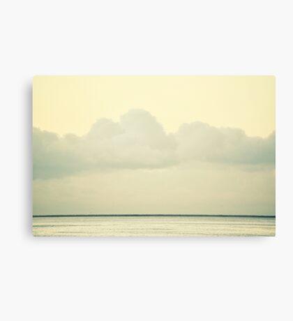 White Wall Canvas Print