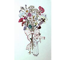 Bouquet of Flowers and Child Photographic Print