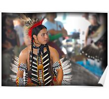 Waiting His Turn  (Pow Wow Series) Poster
