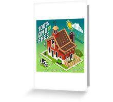 Isometric GMO Free Farming Greeting Card