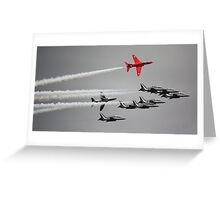 Red Arrow Greeting Card