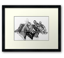 At the Track Framed Print
