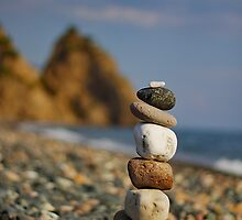 Stacked on the beach by Kounelli