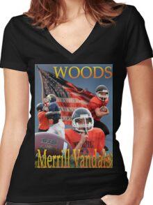 Woods Women's Fitted V-Neck T-Shirt