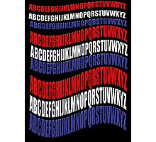 RED WHITE & BLUE alphabet-  Photographic Print