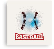 Vector grunge baseball  Canvas Print
