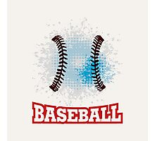 Vector grunge baseball  Photographic Print
