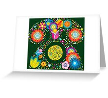 Abstract floral phone Greeting Card