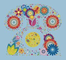 Abstract floral phone Kids Clothes