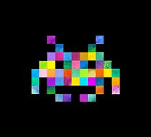 Cubist Invader by Terry  Fan