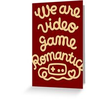 Video Game Romantic Greeting Card