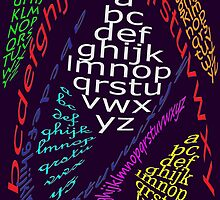 ALPHABET multi colors  by TeaseTees
