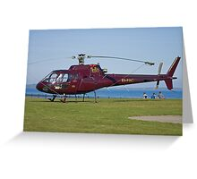EI-FAC Aerospatiale AS350B1 Ecureuil Helicopter Greeting Card